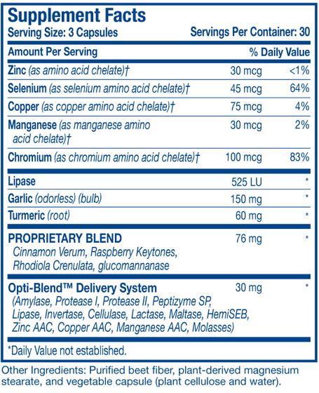 Optimal Health Systems Optimal Fat Sugar Trim Formula 90