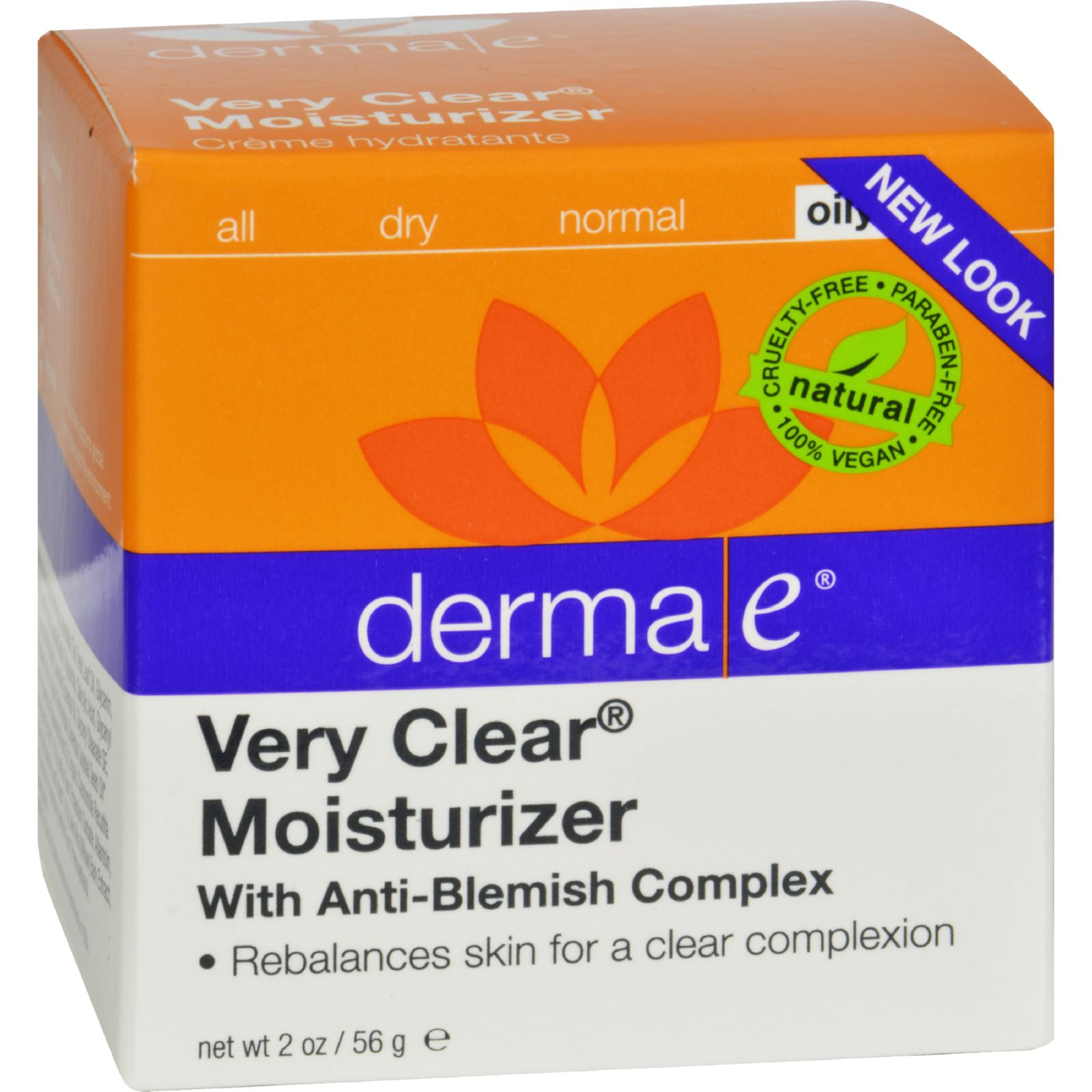 Derma-E Very Clear Problem Skin Moisturizer 2 oz Creme