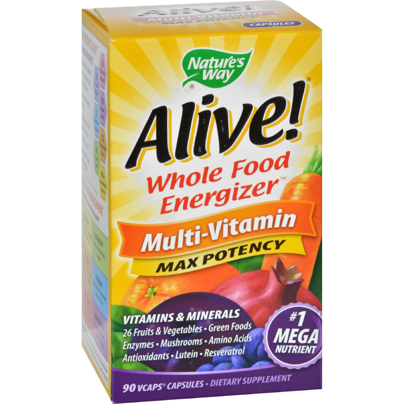 Nature's Way Alive Multivitamin 90 Veggie Caps