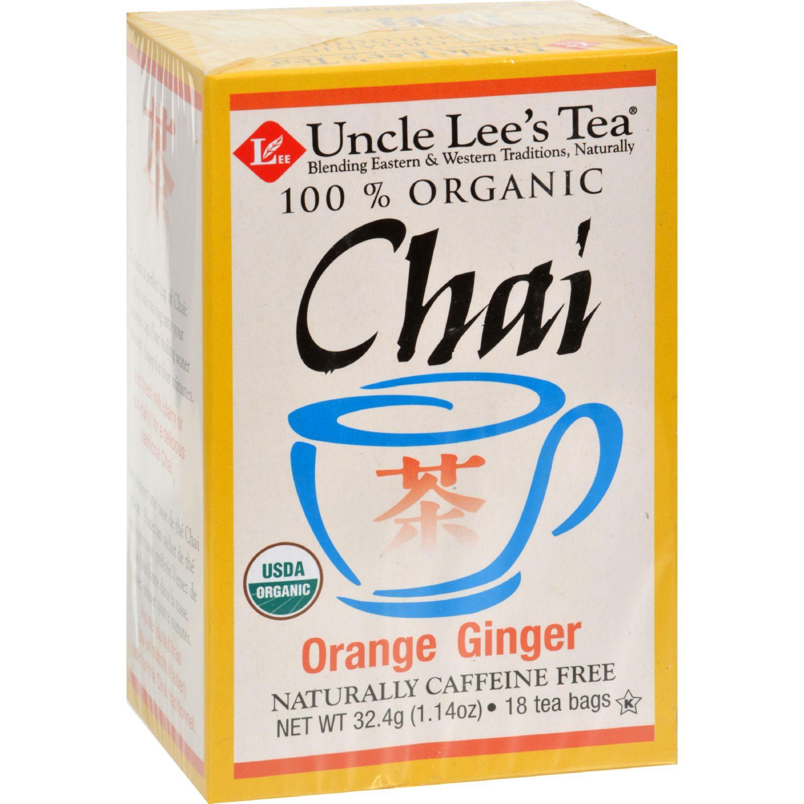 Uncle Lee's Tea Og1 Orng Ginger Chai - 18 Bags