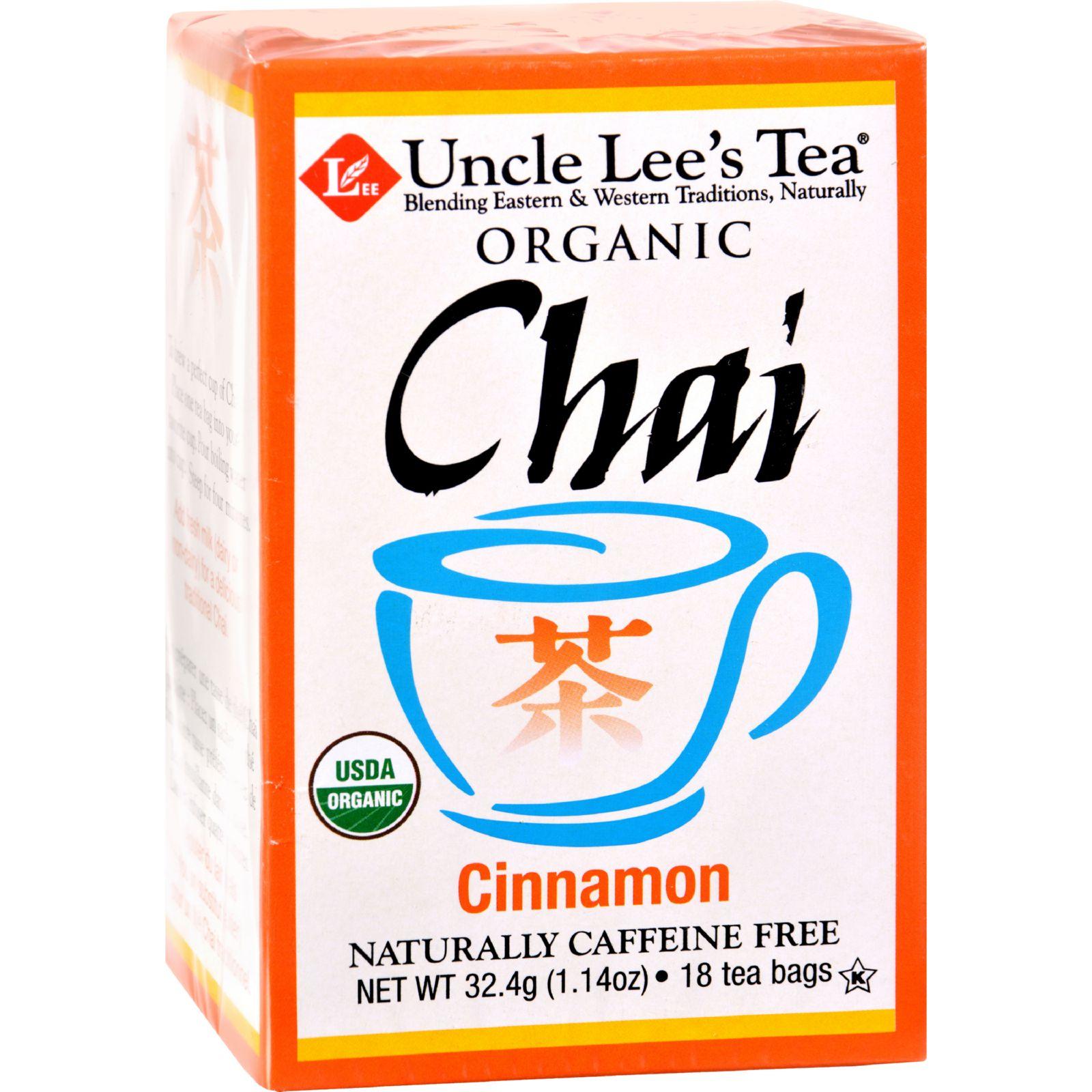 Uncle Lee's Tea Organic Chai Cinnamon - 18 Tea Bags