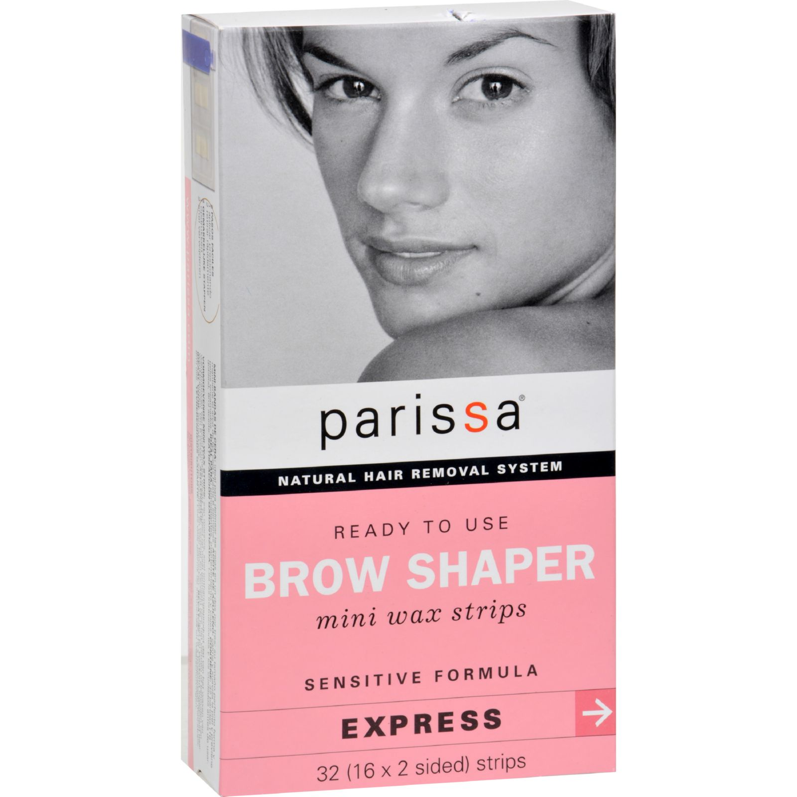Parissa Natural Hair Removal System Brow Shaper 32 Strips From