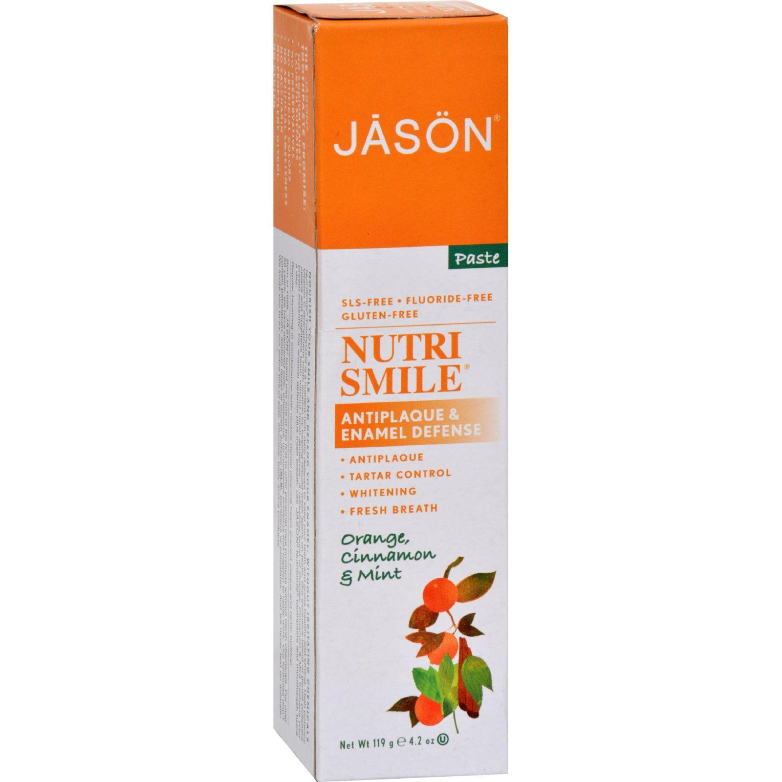 Jason Nutrismile Toothpaste Orange Cinnamon Mint - 4.2 oz