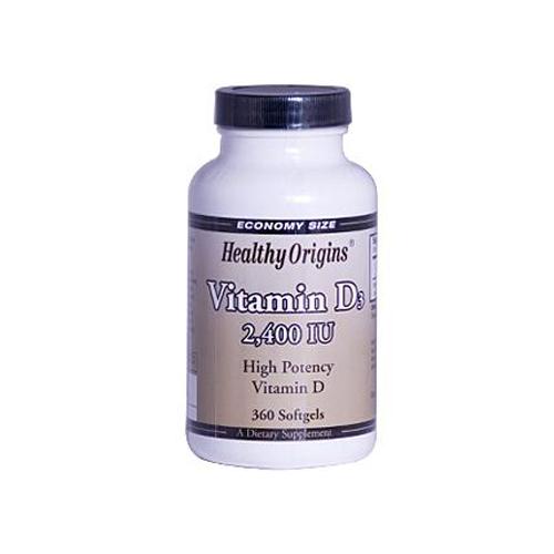 Healthy Vitamin D3 - 2400 IU - 360 Softgels