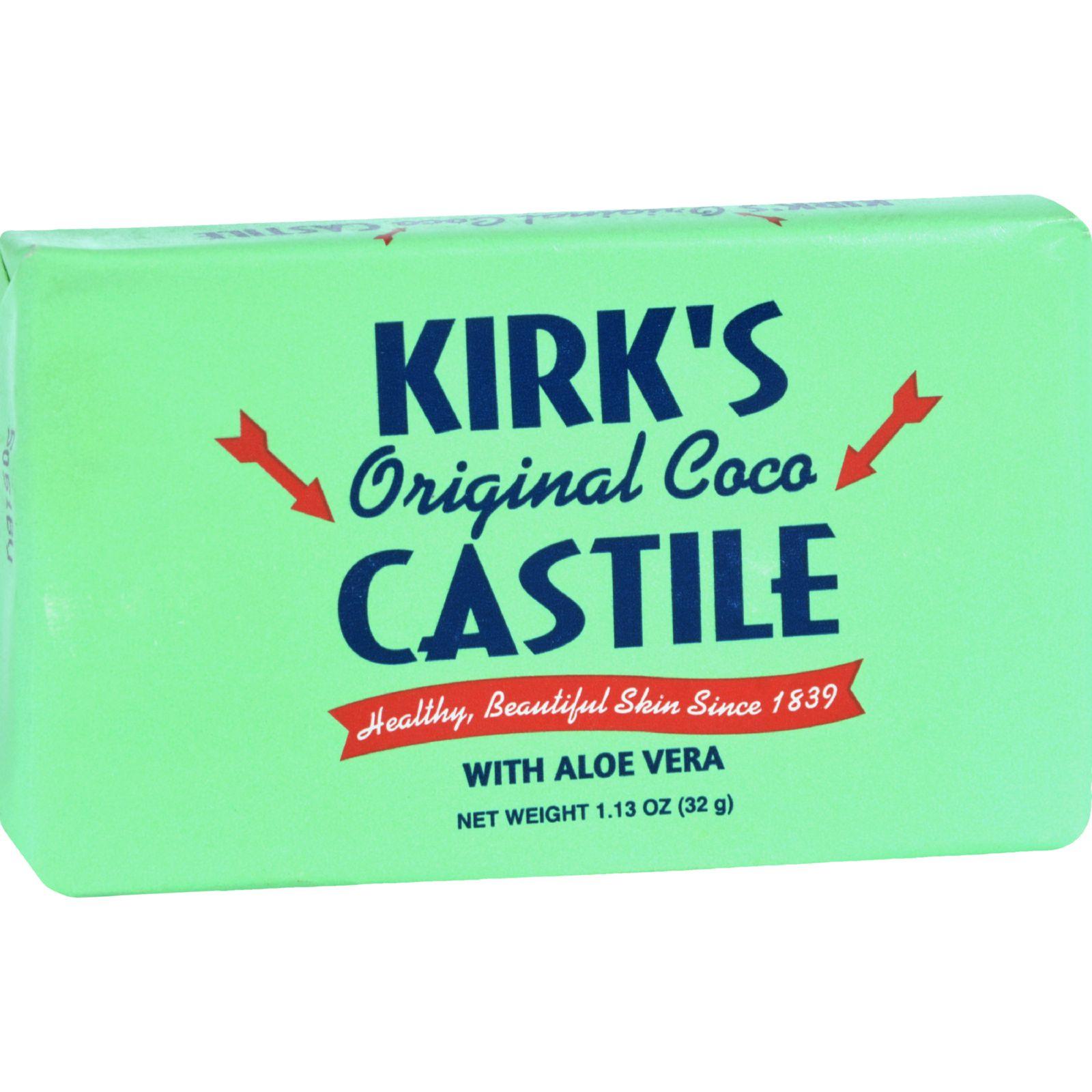 Kirks Natural Bar Soap - Coco Castile - Aloe Vera - Trave...