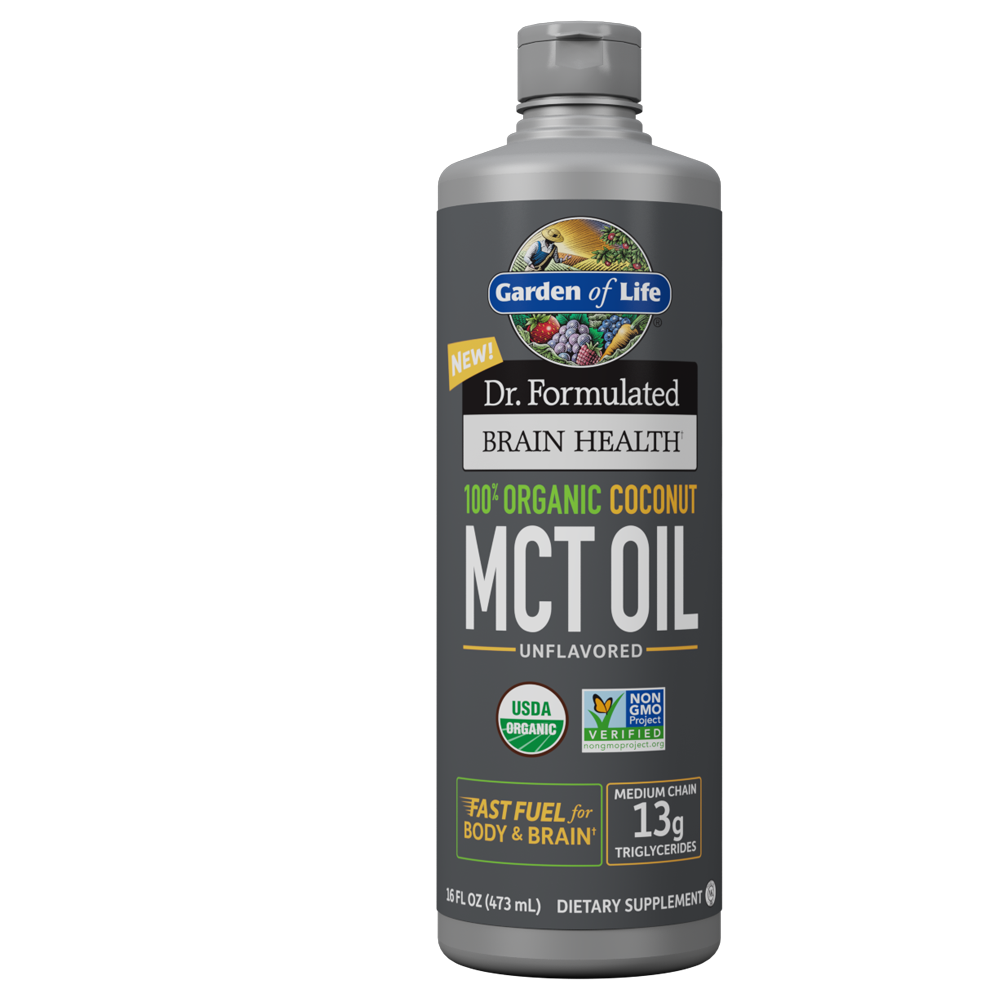 Garden of Life Dr. Formulated Brain Health Organic Coconut MCT Oil 16 oz Unflavored Red