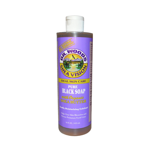 Dr. Woods Shea Vision Pure Black Soap with Organic Shea B...