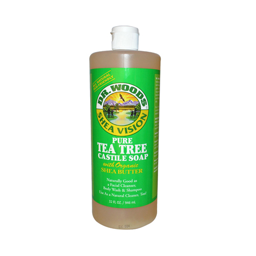 Dr. Woods Shea Vision Pure Castile Soap Tea Tree -- 32 fl oz