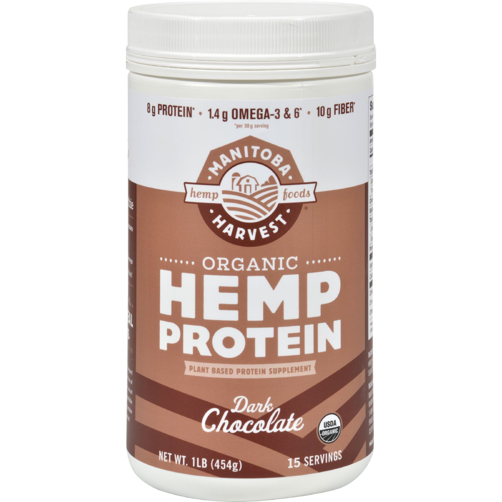 Manitoba Harvest Organic Hemp Protein Dark Chocolate - 16 oz