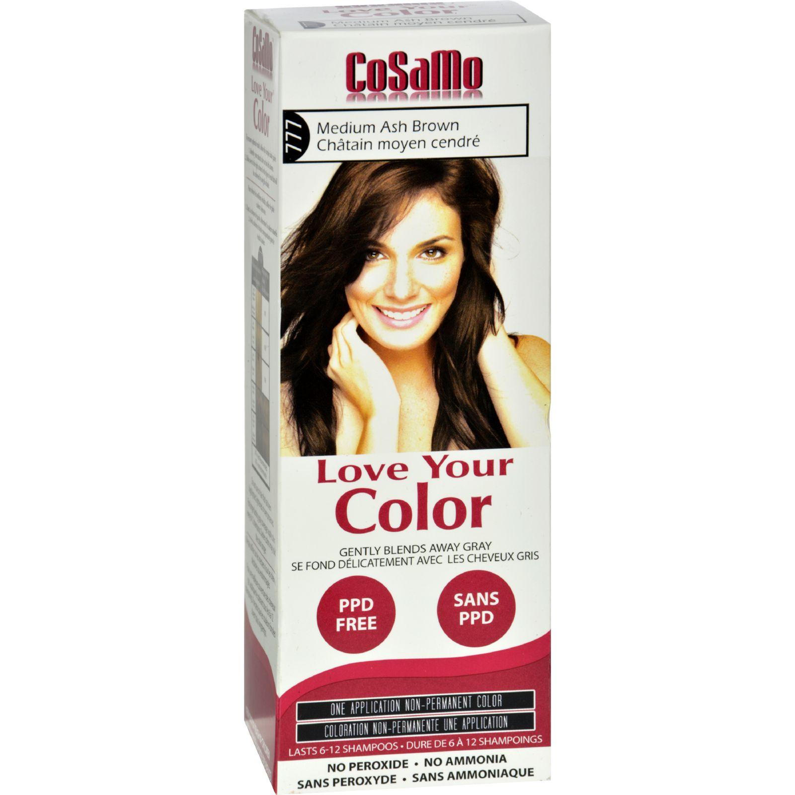 Hair Color - CoSaMo - Non Permanent - Med Ash Brown - 1 ct