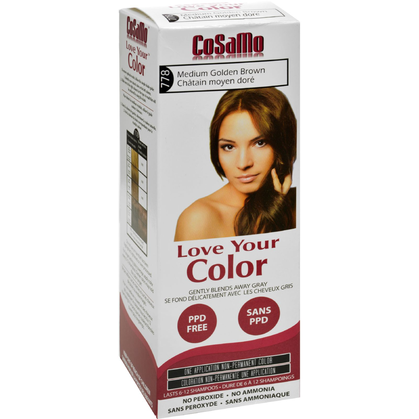 Hair Color - CoSaMo - Non Permanent - Med Gold Brown - 1 ct