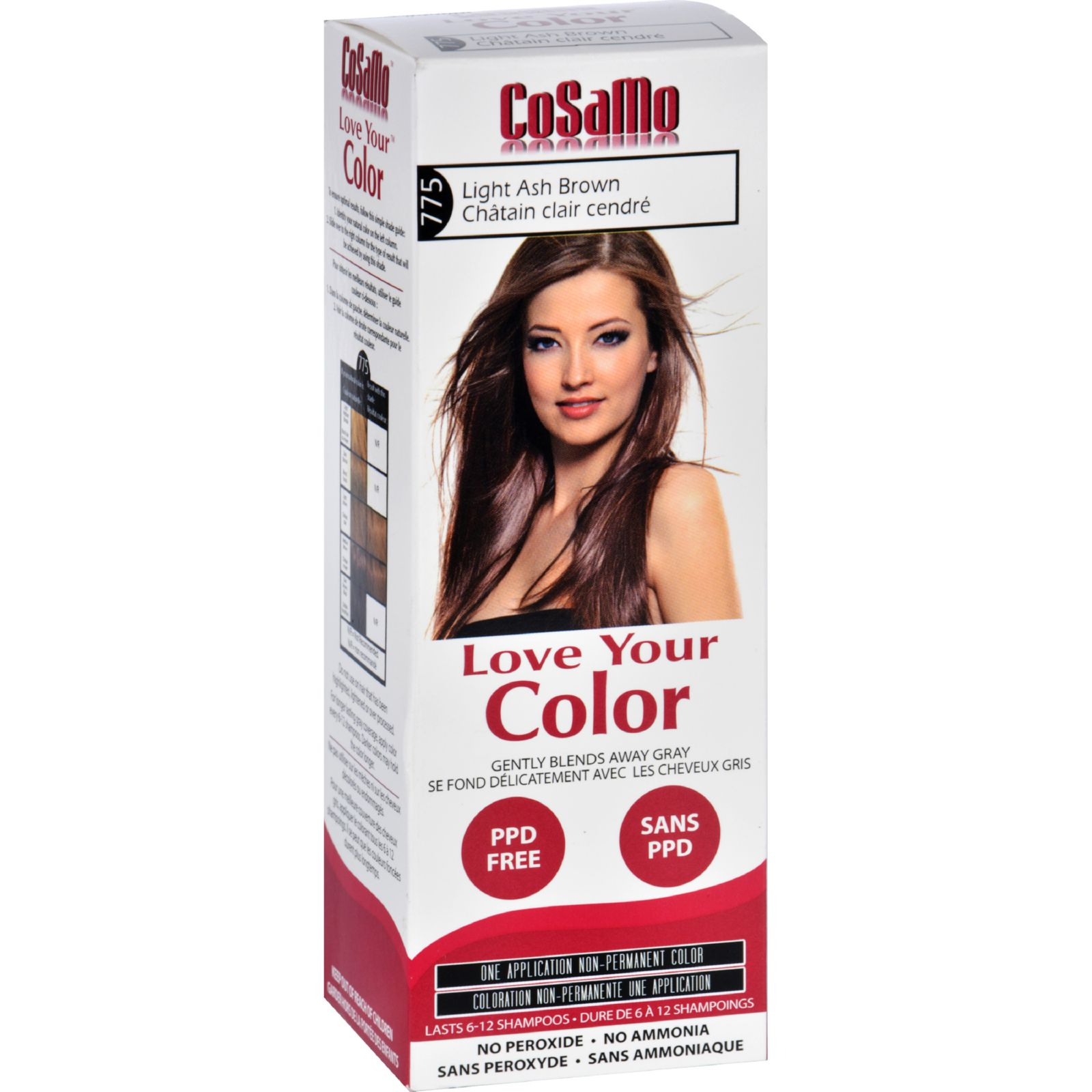 Hair Color - CoSaMo - Non Permanent - Lt Ash Brown - 1 ct