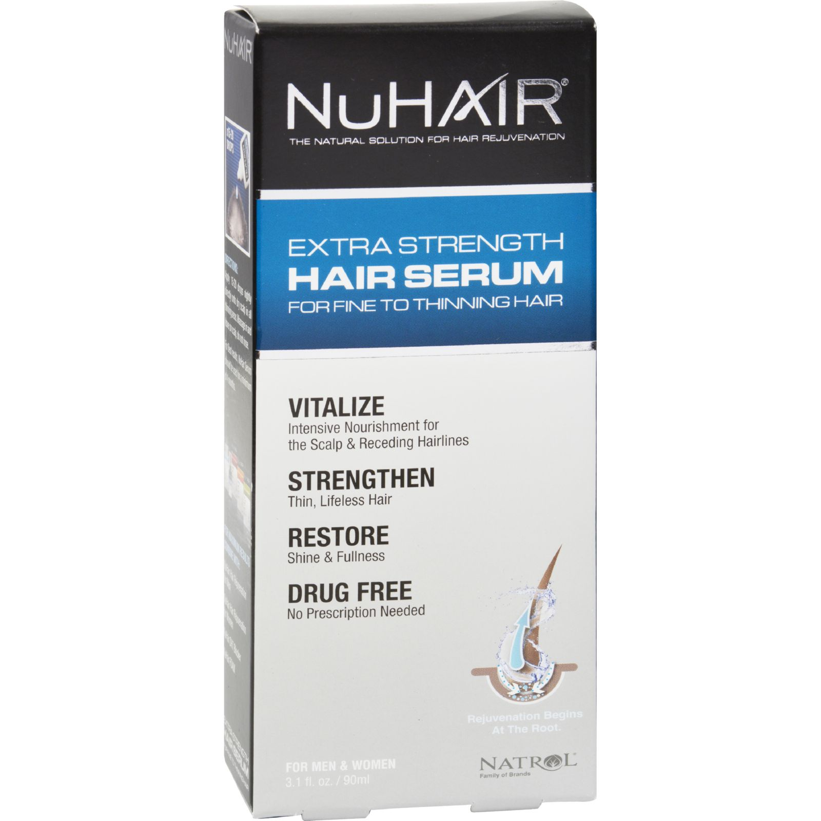 NuHair Extra Strength Thinning Hair Serum For Men and Wom...