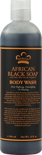 Nubian Heritage African Black Body Wash  13 oz Liquid