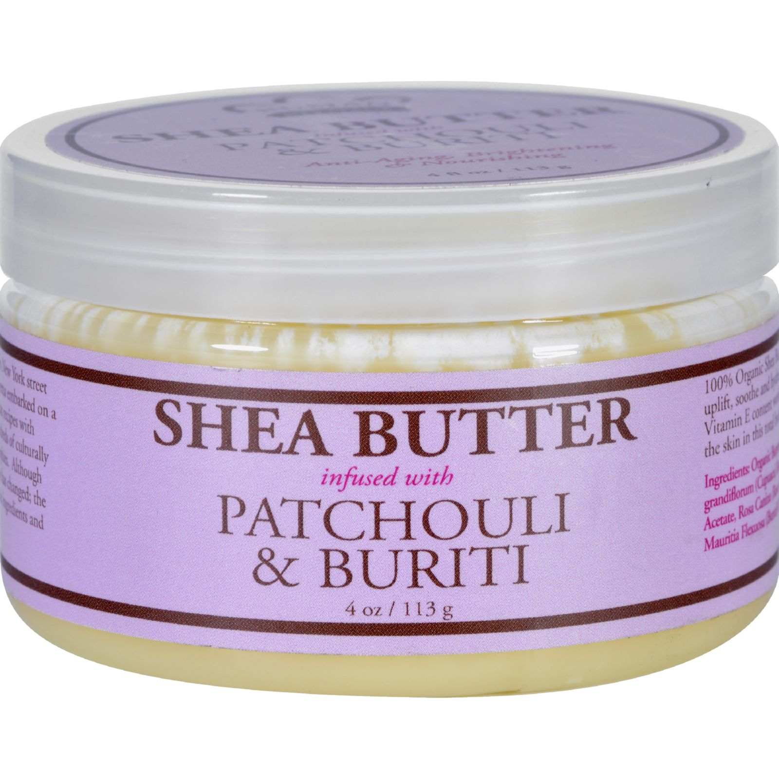 Nubian Heritage Patchouli & Buriti Infused Shea Butter Toning & Uplifting 4 oz All Skin Types