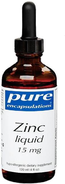 Pure Encapsulations Zinc Liquid 4 oz Liquid