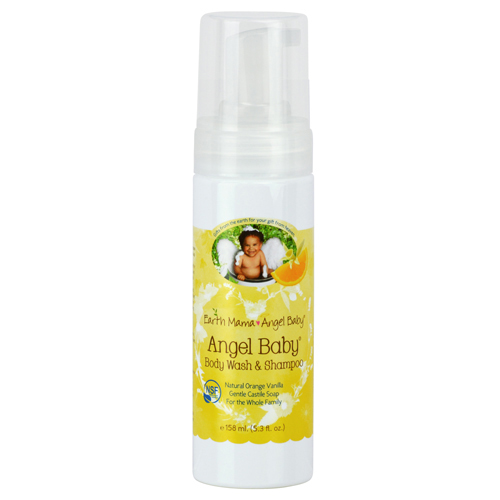 Earth Mama Angel Baby Body Wash and Shampoo 5.3 oz Liquid