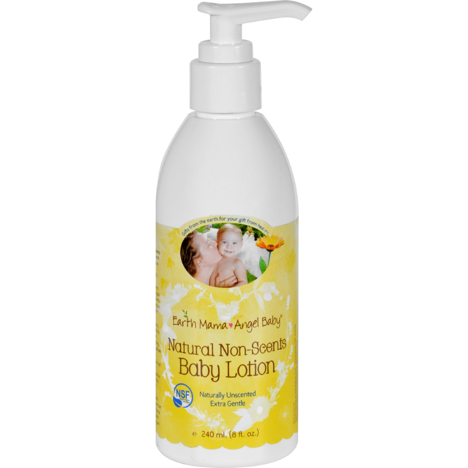 Earth Mama Natural Non-Scents Baby Lotion 8 oz Lotion