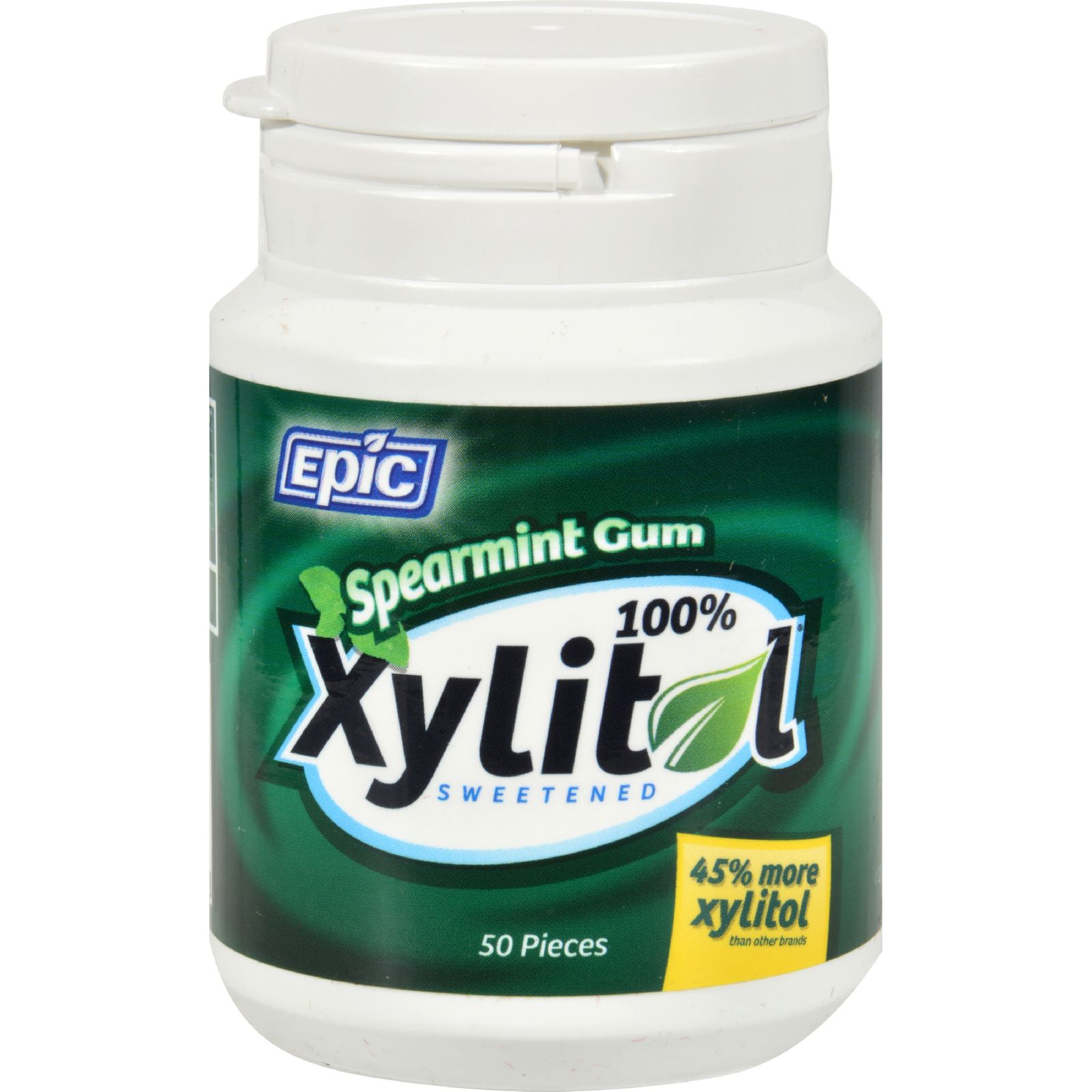 Spearmint Gum - Xylitol Sweetened - 50 Count