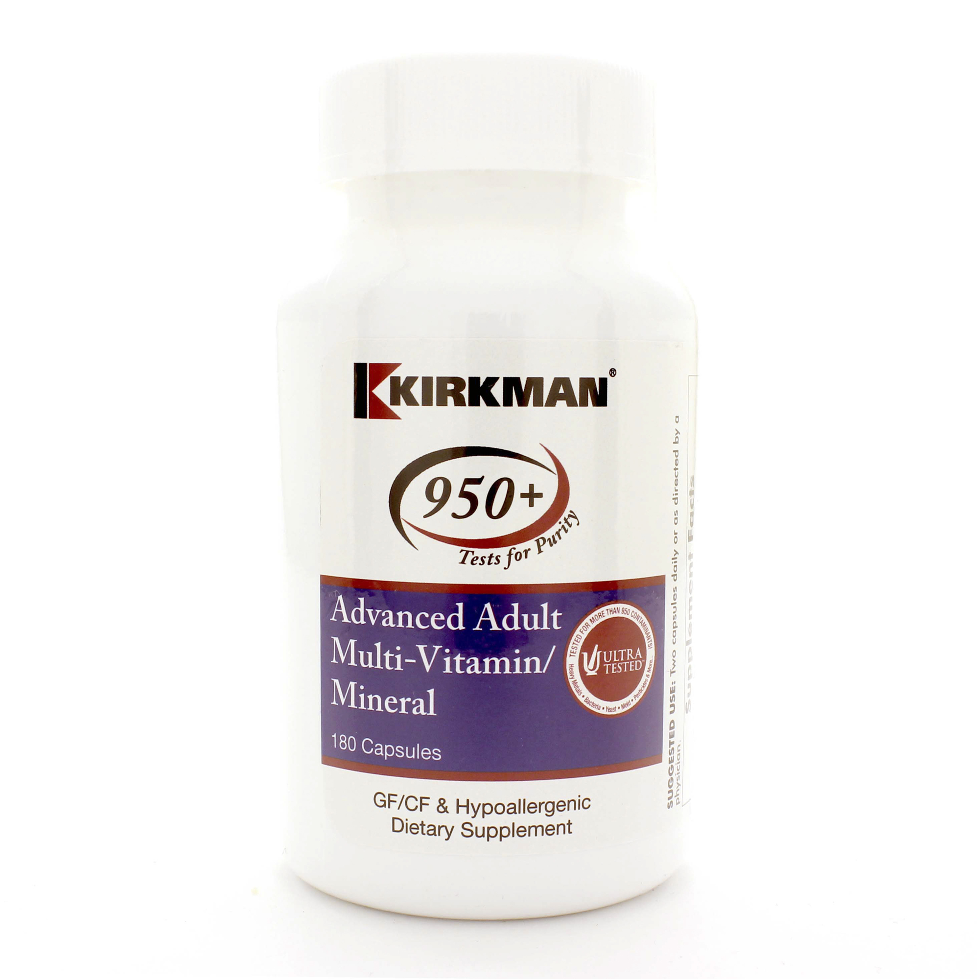 Advanced Adult Multi-Vitamin/Mineral 180c - Hypoallergenic