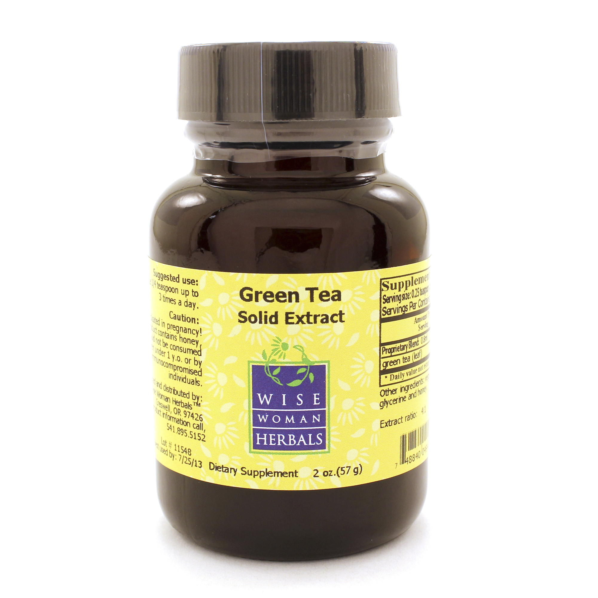 Wise Woman Herbals Green Tea Solid Extract 4 Oz 4gtse Api Exp.2.19+ Sd