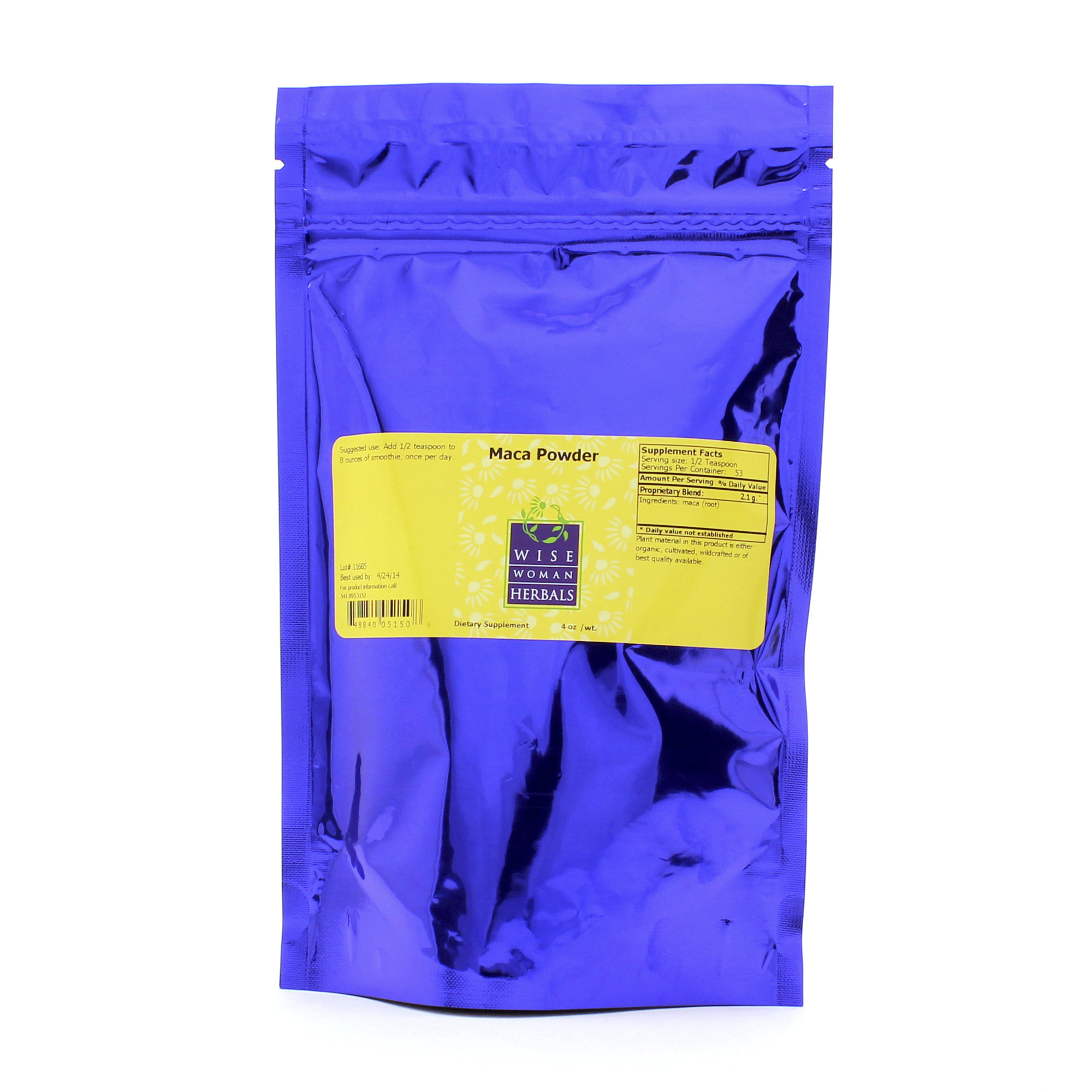 Wise Woman Herbals Maca Bulk Powder 1LB