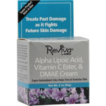 Reviva, Alpha Lipoic Acid, Vitamin C Ester, & DMAE Night Cream 2 oz Creme