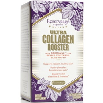 Reserveage, Ultra Collagen Booster with Biocell Collagen and Dermaval - 60 Capsules