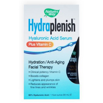 Natures Way, Hydraplenish Hyaluronic Acid Serum Plus Vitamin C 1 fl oz Spray