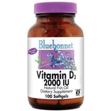 Bluebonnet, Vitamin D3- 2000 IU 100 Softgels