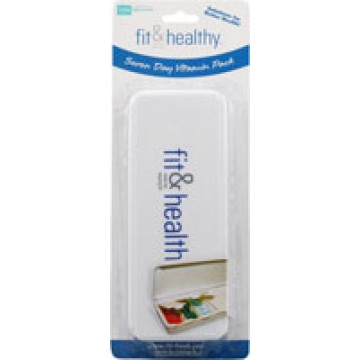 Fit & Healthy, 7 Day Pill Case Box