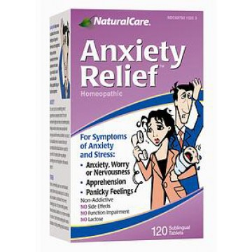 Natural Care, Anxiety Relief 120 Tablets