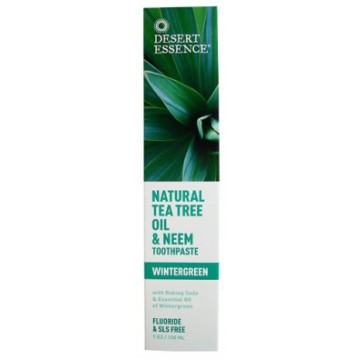 Desert Essence, Natural Tea Tree Oil & Neem Toothpaste 6.4 oz Toothpaste