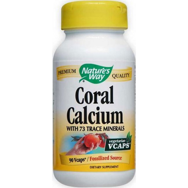 Natures way coral calcium with 73 trace minerals 90 vegetarian