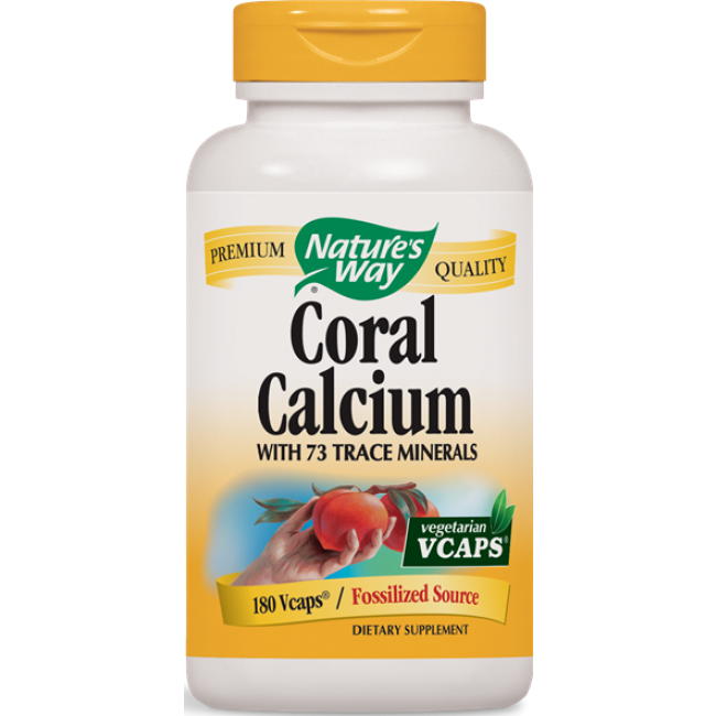 Natures way coral calcium with 73 trace minerals 180 vcaps the