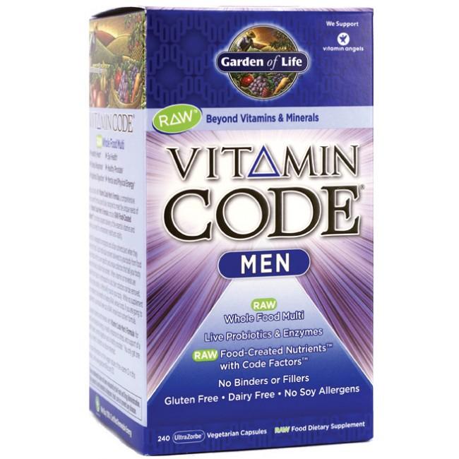 Garden Of Life Vitamin Code Men 240 Veggie Caps The