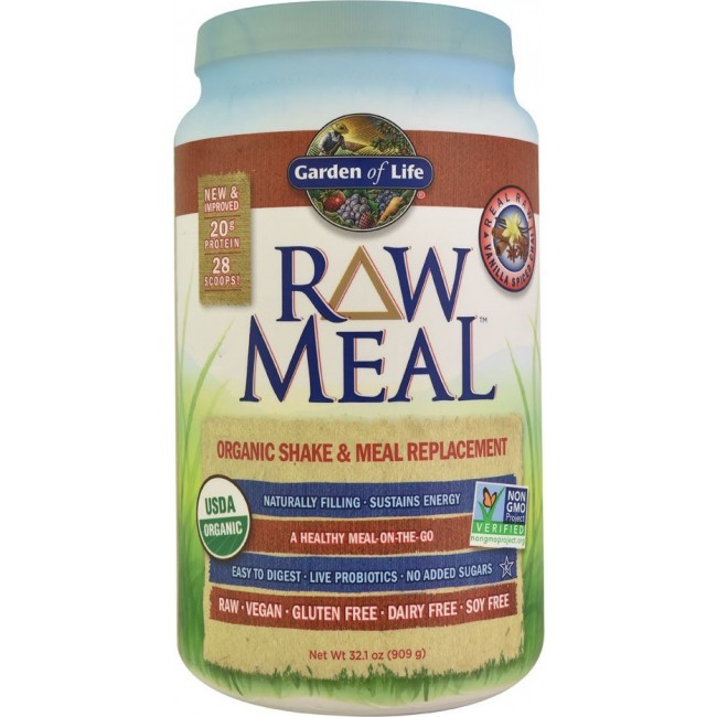 Garden Of Life Raw Meal 32 1 Oz 909 G Vanilla Spiced Chai The Natural
