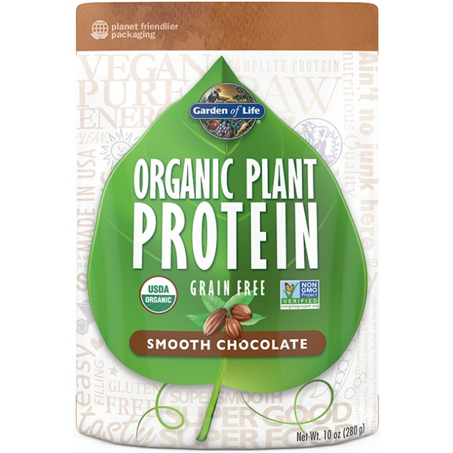 Garden Of Life Organic Plant Protein 10 Oz Powder Chocolate The Natural