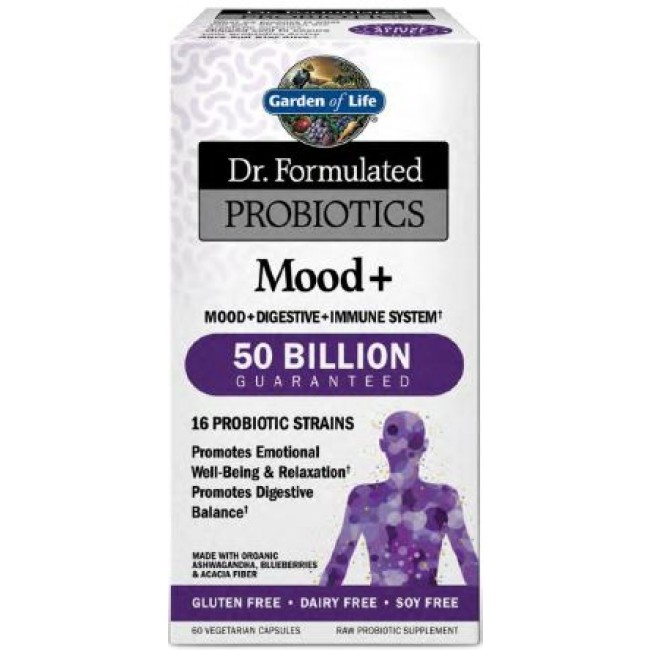 Garden Of Life Dr Formulated Probiotics Mood 60 Capsules The Natural