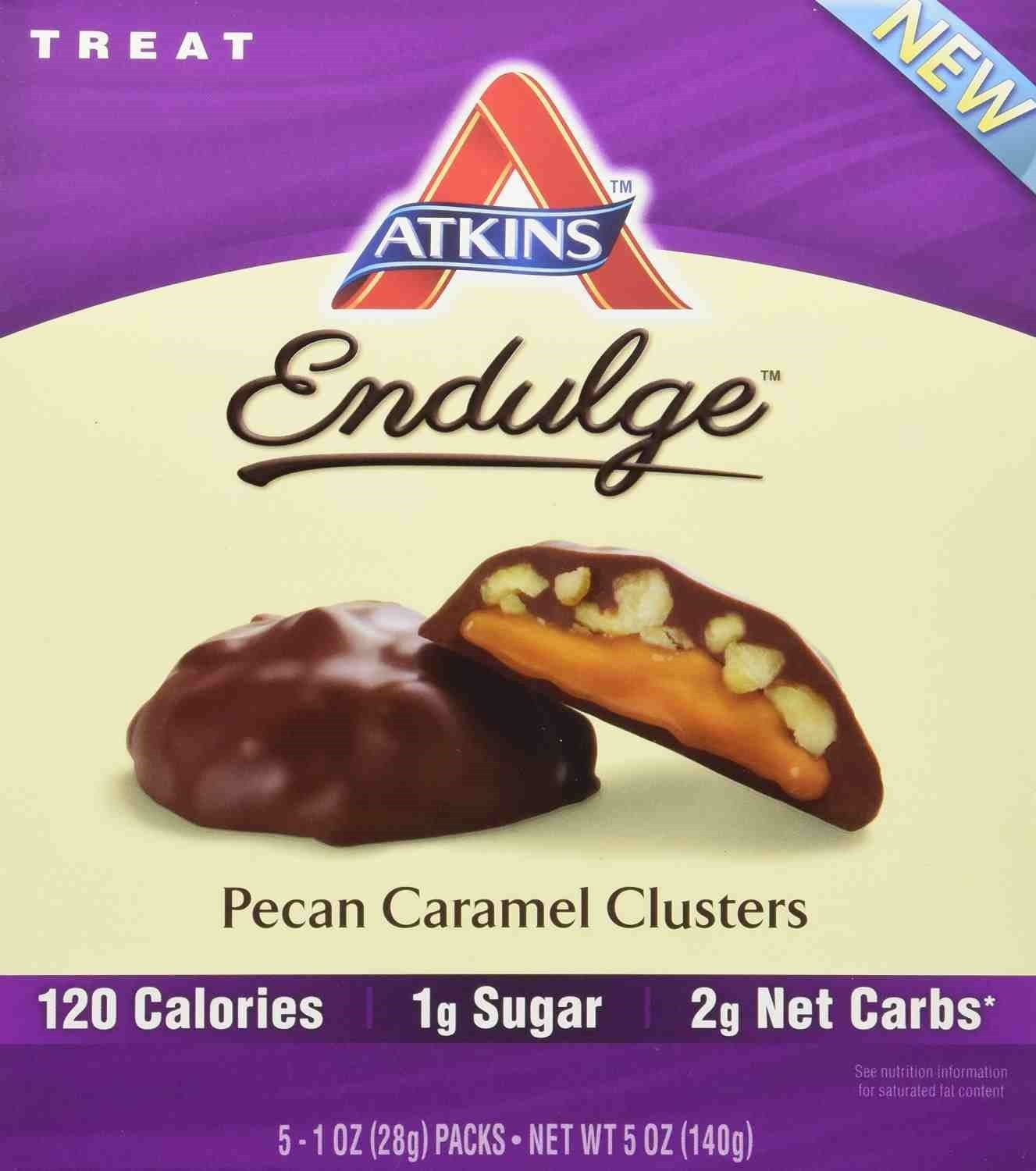ATKINS Endulge Pieces - Pecan Caramel Cluster Bar - 5 oz ...