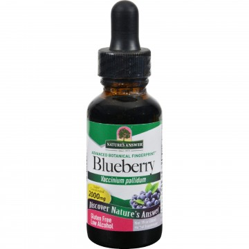 Natures Answer, Blueberry Leaf - 1 fl oz