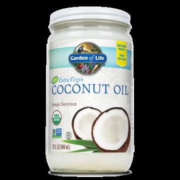 Garden of Life, Extra Virgin Coconut Oil 32 oz Oil Glass Jar