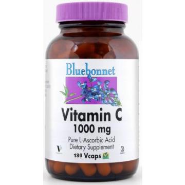 Bluebonnet, Vitamin C- 1000 MG 180 Veggie Caps