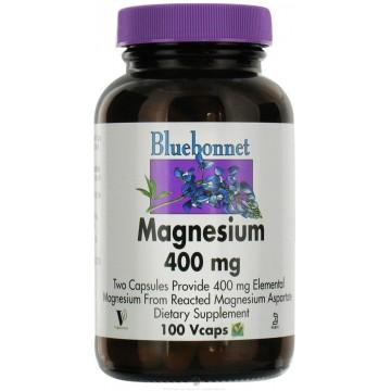 Bluebonnet, Magnesium- 400 MG 100 Veggie Caps