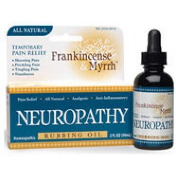 Frankincense & Myrrh, Neuropathy Rubbing Oil 2 oz Oil