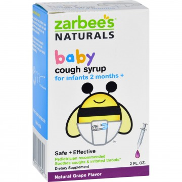 Zarbee S Naturals Baby Cough Syrup Grape 2 Oz The