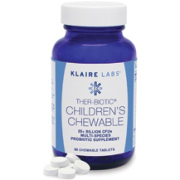 Klaire Labs, Ther-Biotic Children's Chewable 60 Chewable Tablets
