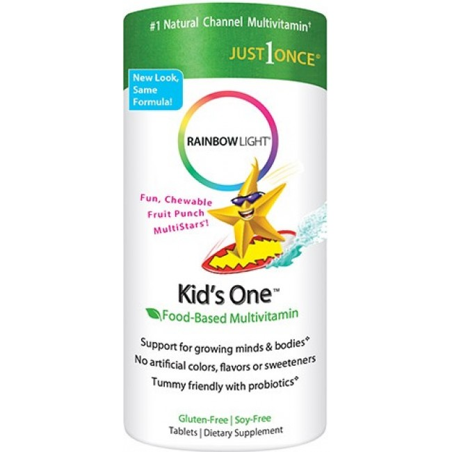 Rainbow Light Kids One Multistars Fruit Punch 30