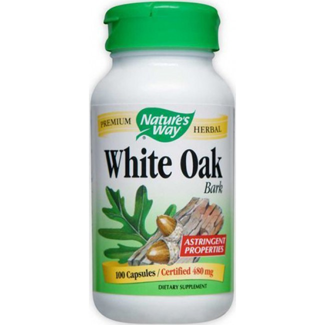 Natures Way, White Oak Bark - 100 Capsules -The Natural
