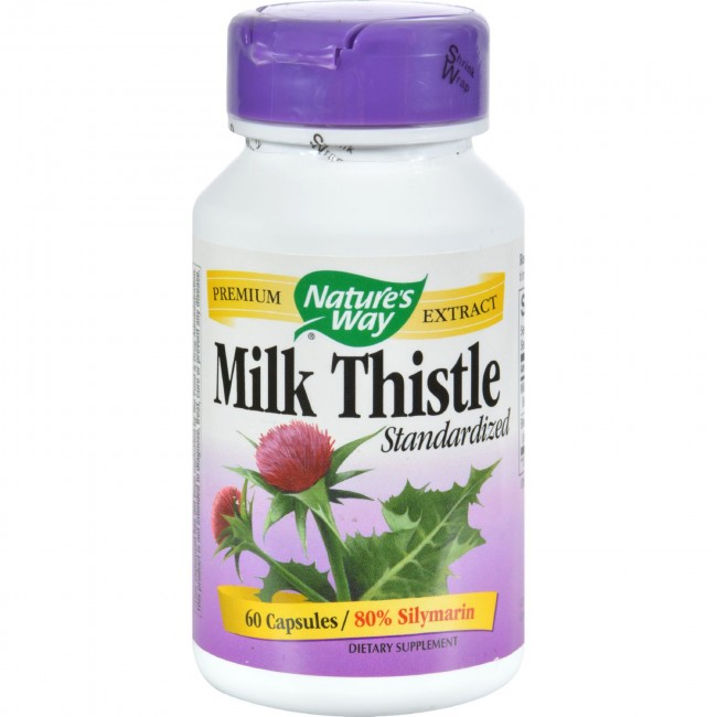 Natures Way, Milk Thistle Standardized - 60 Capsules -The ...